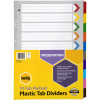 MARBIG COLOURED DIVIDERS A3 1-10Tab Board Portrait Asst