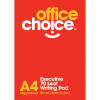 Office Choice Writing Pad - A4 White Pack of 10