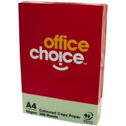 OFFICE CHOICE TINTS COPY PAPER A4 80gsm Green