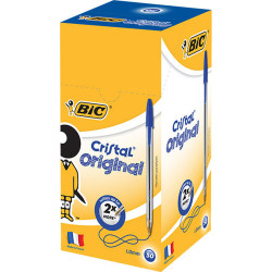 BIC CRISTAL BALLPOINT PEN Blue Box of 50