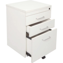 RAPID SPAN MOBILE PEDESTAL 3 Drawer White