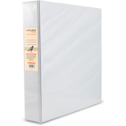 BIBBULMUN A4 INSERT BINDER 4D 50mm White