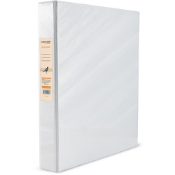BIBBULMUN A4 INSERT BINDER 3D 25mm White